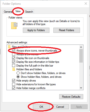 Folder Import - Thumbs db file extension caused the batch