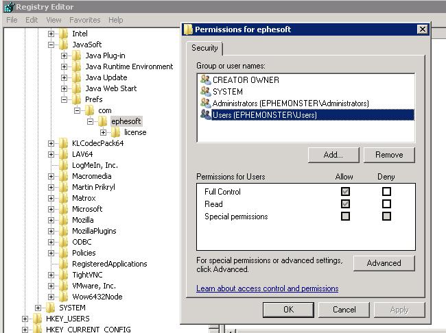 Ephesoft_Registry
