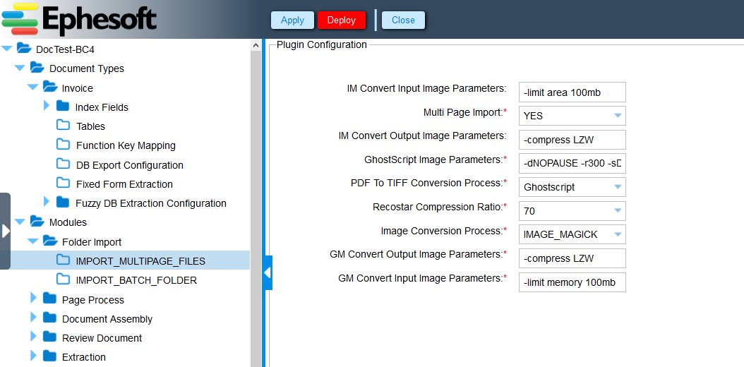 ImageMagick Processing Parameters   Ephesoft Docs