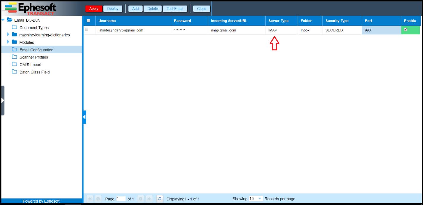 Email Import | Ephesoft Docs