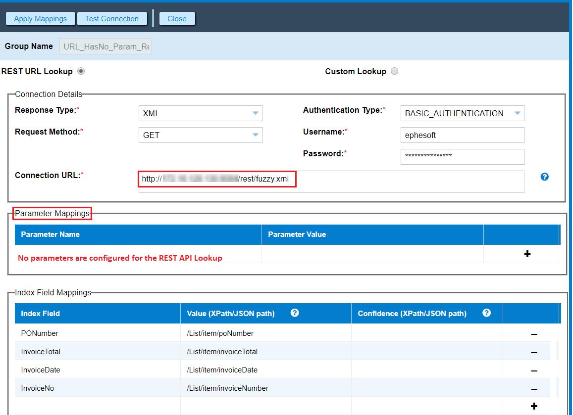 Extraction | Custom REST API Lookup | Ephesoft Docs