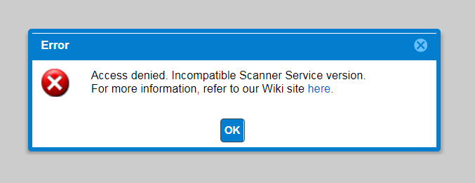 Known Issue: Invalid Access Error Using Advanced Web Scanner with