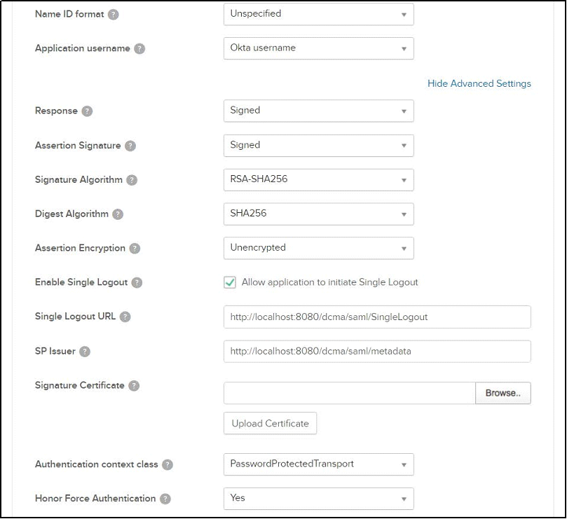 Manually Configuring SAML 2 0 SSO for Ephesoft Transact 4 5