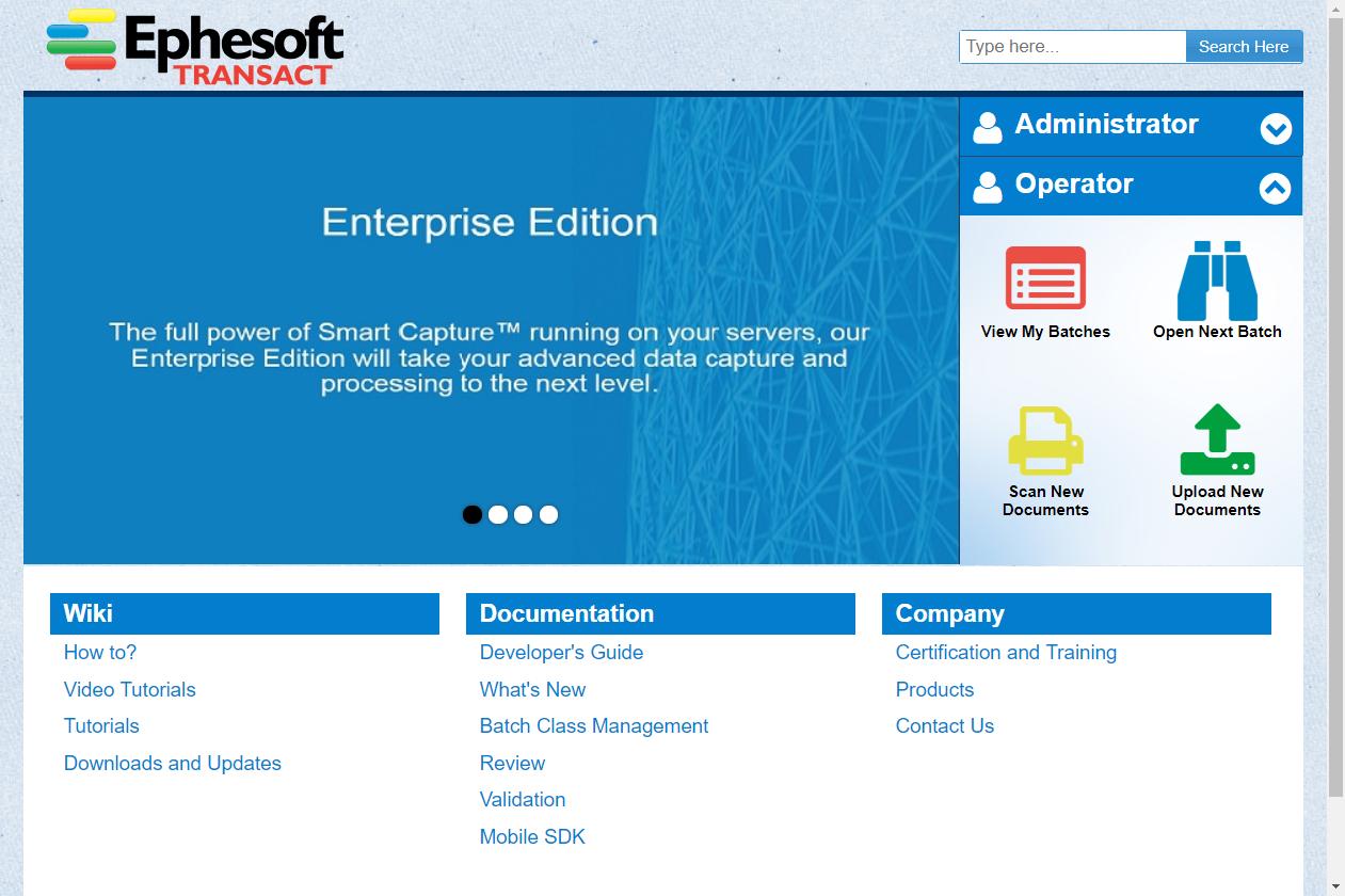 Ephesoft Transact User Quick Reference Guide   Ephesoft Docs