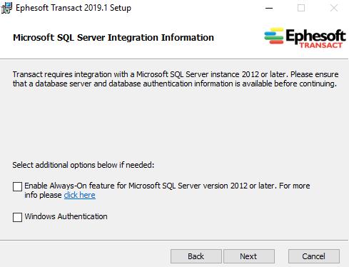 Installing Ephesoft Transact 2019 1 - Single-server - Microsoft