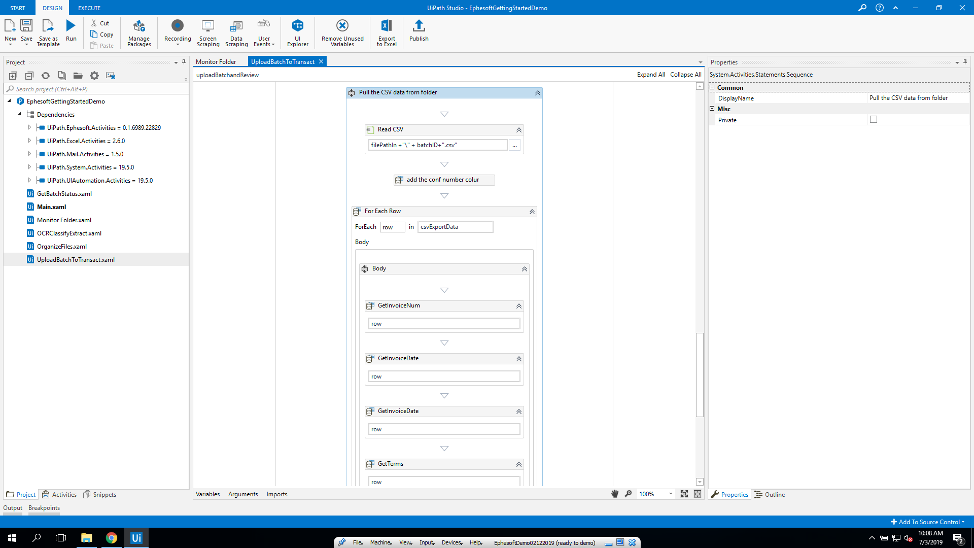 Getting Started with Ephesoft Transact and UiPath | Ephesoft Docs