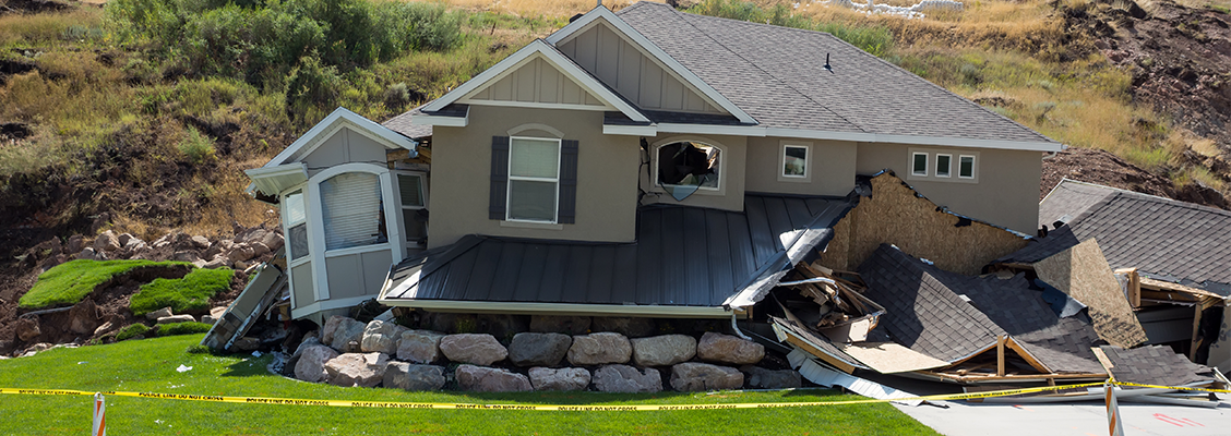 House damaged in landslide after flood