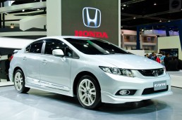 Honda Civic on at auto show