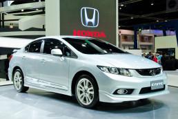Honda Civic on at auto show