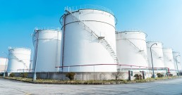 constructions in modern oil refinery
